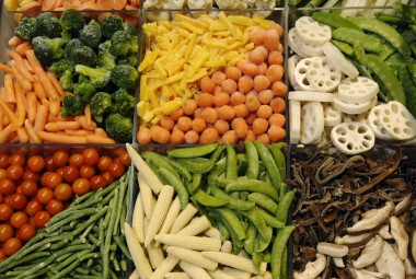 Légumes congelés.
