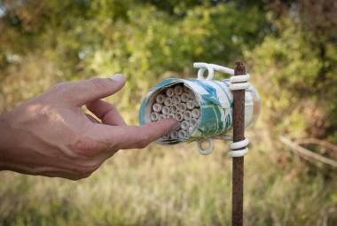 Nichoir à abeilles.