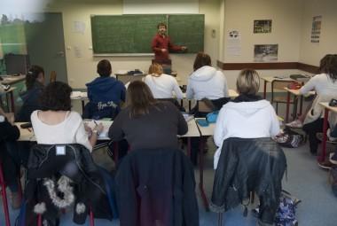 Cours théorique en classe.
